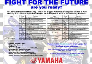 PT. Yamaha Indonesia Motor Manufacturing Organization Joint-stock Company PT Yamaha Indonesia Motor Manufacturing West Java Factory PNG