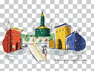 Architecture Watercolor Painting Building Illustration PNG