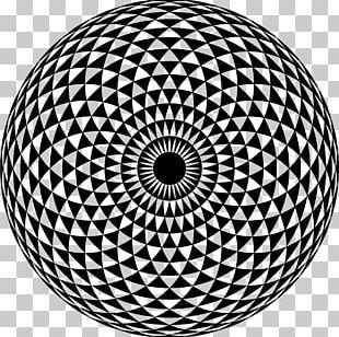 Sacred Geometry Torus Drawing Mandala PNG