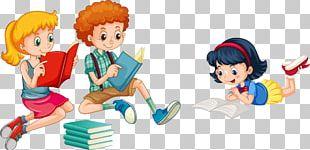 Reading Child Illustration PNG