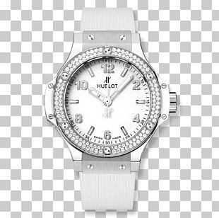 Hublot Watch Steel Chronograph Strap PNG