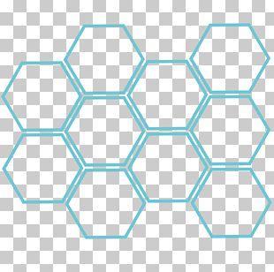European Dark Bee Hexagon Honeycomb Honey Bee PNG