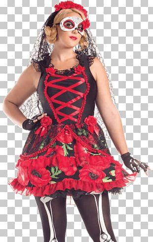 La Calavera Catrina Day Of The Dead Halloween Costume PNG