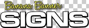 Banana Banner Signs Logo Car Signage PNG