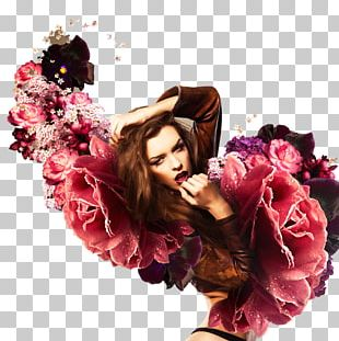 Woman Flower Stock Photography Canvas PNG