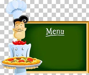 Chef Cartoon Pizza PNG