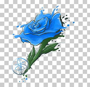 Blue Rose Garden Roses Floral Design Illustration PNG