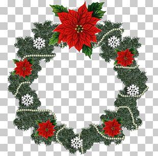 Wreath Santa Claus Christmas Ornament Christmas Card PNG