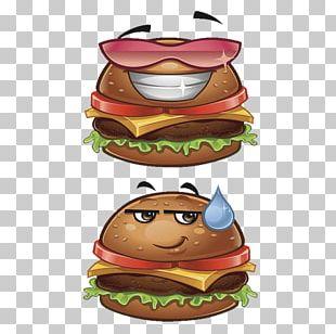 Hamburger Cheeseburger Fast Food Cartoon PNG
