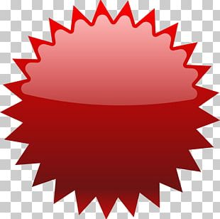 Starburst Red PNG