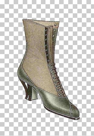 Vintage Clothing Boot Shoe Fashion PNG