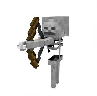 Minecraft Magic: The Gathering Skeleton Mob PNG