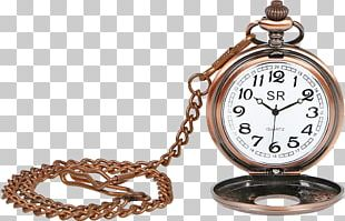 Pocket Watch Chain Silver PNG