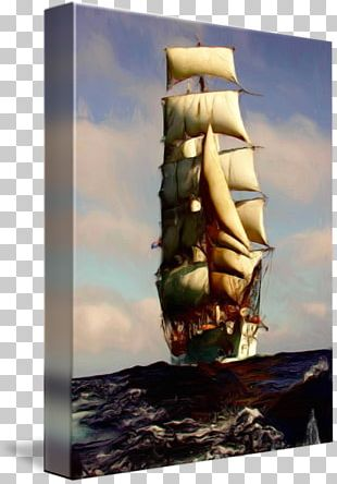 Tall Ship Oil Painting Full-rigged Ship Clipper PNG