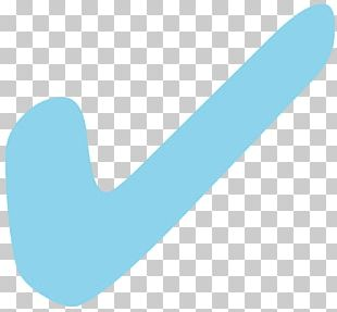 Blue Check Mark Tick Turquoise PNG