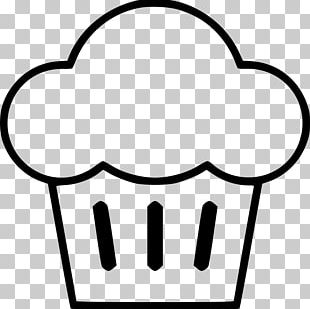 Muffin Cupcake Black And White Stencil PNG