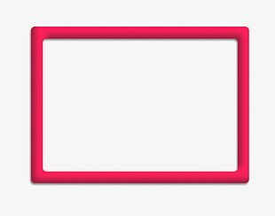 Pink Rectangle Frame PNG