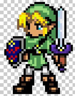 The Legend Of Zelda Breath Of The Wild Link Pixel Art Logo