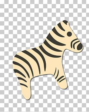 Zebra Cartoon Illustration PNG
