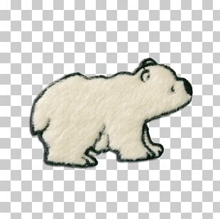 Polar Bear Embroidered Patch Appliqué Iron-on PNG