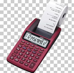 Amazon.com Casio Mini-Print Calculator 12-digit Black HR-8TEC-W-E Casio HR-8TM PNG