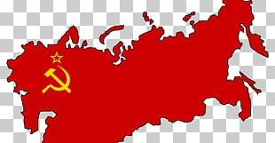 Flag Of The Soviet Union Russian Revolution Map PNG