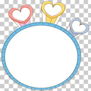 Paper Heart Text Box PNG