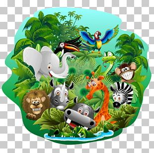 Jungle Installation Art Poster PNG