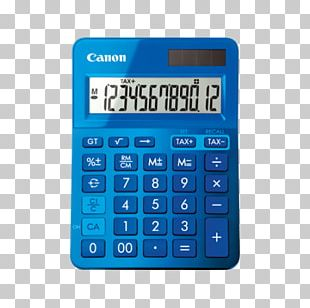Calculator Canon FEMMIN0220 LS-123 Yellow Electric Battery PNG