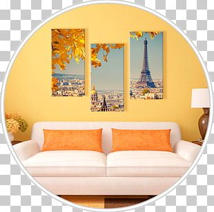 Eiffel Tower Canvas Print Watercolor Painting PNG