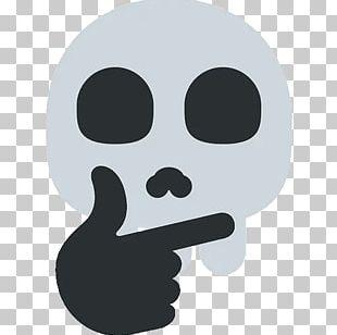 Emoji Telegram Sticker Skull Thought PNG