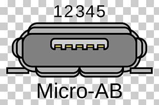 Micro-USB Electrical Connector Serial Communication PNG