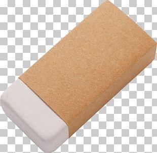Kraft Paper Packaging And Labeling Eraser PNG