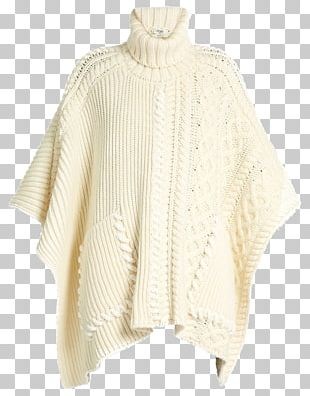 Poncho Sweater Wool Clothing Sleeve PNG