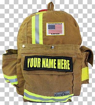 Bag Backpack Bunker Gear Firefighter Pocket PNG