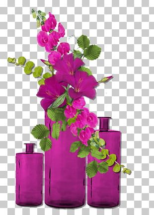 Birthday Floral Design Vase Flower Wish PNG