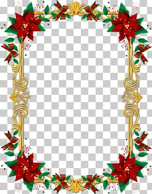 Ornate Christmas Frame PNG