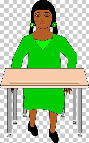 Desk Sitting Student PNG