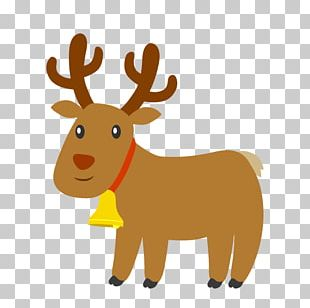 Reindeer Santa Claus Illustration PNG