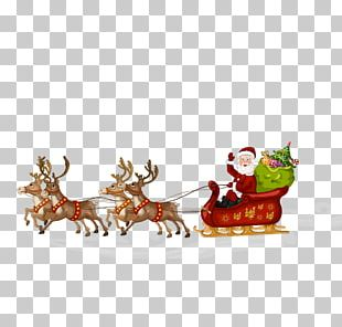 Santa Claus Reindeer Sled Stock Photography Illustration PNG