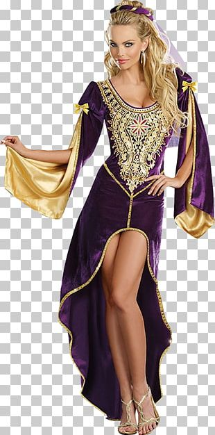 Middle Ages Costume Party Woman Clothing PNG