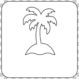 Black And White Drawing Tree Line Art PNG