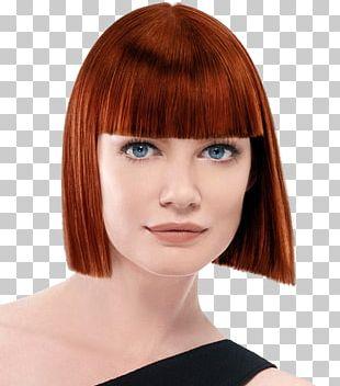 Bangs Hair Coloring Brown Hair Human Hair Color PNG