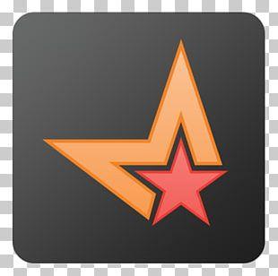 Triangle Symbol Orange Line PNG