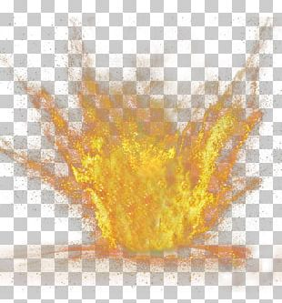 Hand-painted Splash Of Explosives Particles PNG