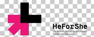 HeForShe Logo Woman Gender Equality Female PNG