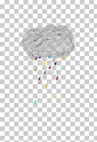 Rain Cloud Drawing Illustration PNG