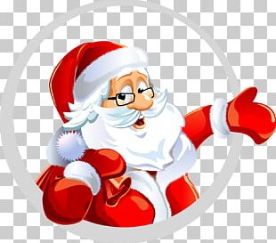 Santa Claus Christmas New Year's Day Wish PNG
