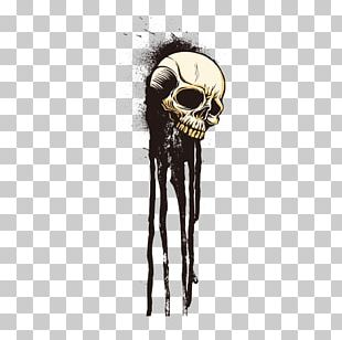 T-shirt Skull Drawing Ink Skeleton PNG