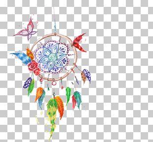 Dreamcatcher Euclidean Watercolor Painting Feather PNG